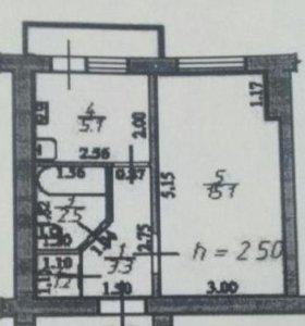 Квартира, 1 комната, 27.2 м²