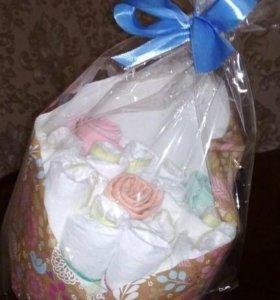 Тортики, букеты и корзинки из памперсов