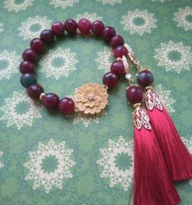 Комплект браслет и серьги-кисти