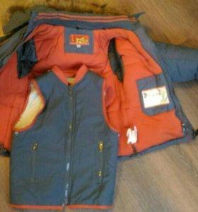 Куртка детская с подкладкой жилеткой