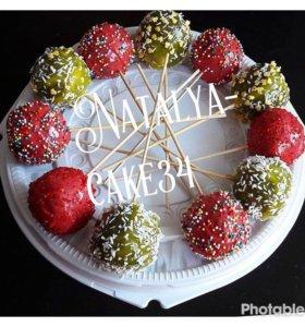 Кейкпопс, тортик, капкейки, десерты, сладкий стол.