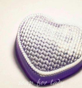 Мыло вязаное сердце