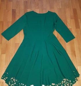 Платье зелёное