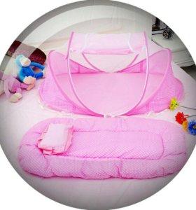 Портативная кроватка-манеж Happy Baby