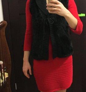 Платье+ жилетка
