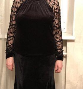 Блузка из бархата размер 50-52