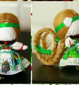 """""""На счастье""""-тряпичная кукла на заказ."""