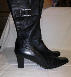 Натуральная кожа - ботинки на каблуке