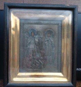 Михаил и Варвара в серебряном окладе