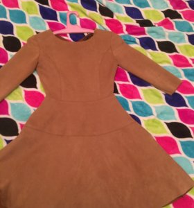 Замшевое платье