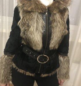 Куртка меховая с капюшоном