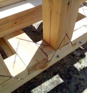 Строительство бань,беседок,пристроек,каркасных дом