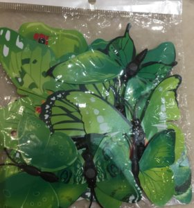 Декоративные бабочки на магнитах
