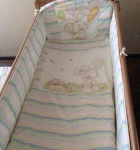 Бортики в кроватку и постельное белье