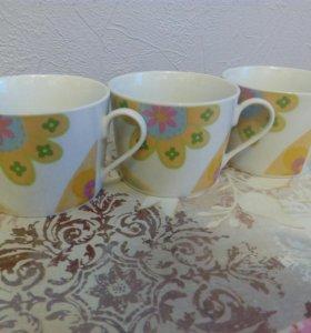 Чашки 3 шт