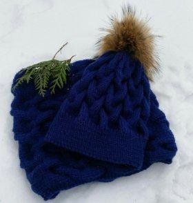 Вязаная шапка и снуд подарки
