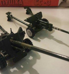 Дивизионная пушка ЗИС-3-76. 1981г. Игрушки СССР