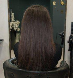 Волосы для наращивания в срезе