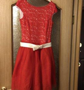 Платье вечернее, пышная юбка, размер 46