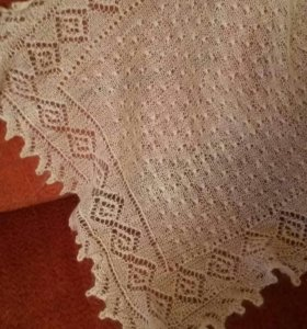 Пуховый платок 100×100 Паутинка