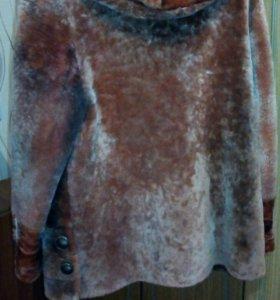 Полушубок-мутон коричневый