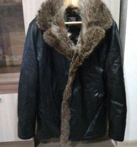 Зимняя мужская куртка(дубленка)