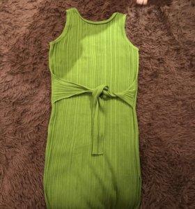 Платье лапша с разрезами по бокам