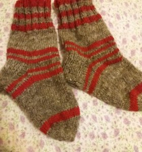 Шерстяные,вязанные носки.На взрослых.На заказ.