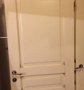 Двери межкомнатные, б/у - 4 шт.