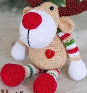 Мягкие новогодние сувениры и игрушки