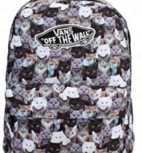 Рюкзак vans с котами