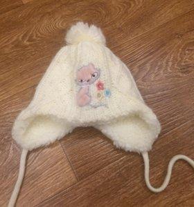 Шапочка для маленькой девочки (зимняя)