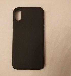 Чехол для iPhone X матовый черный