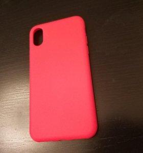 Чехол для iPhone X матовый красный