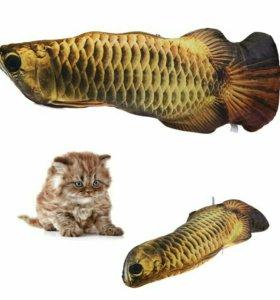 Игрушка для кошки. Золотая рыбка.