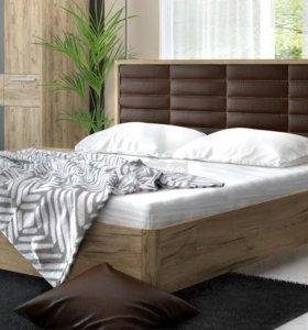 Кровать 160 Кожа коричнев из спальни.