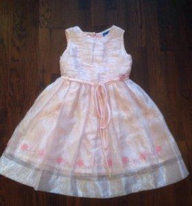 платье на девочку детское праздничное 7 лет 120 см