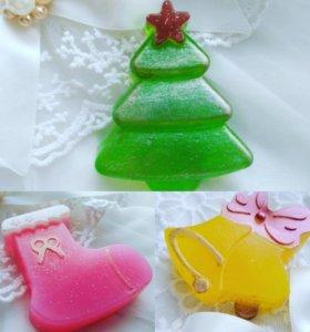 Новогоднее мыло