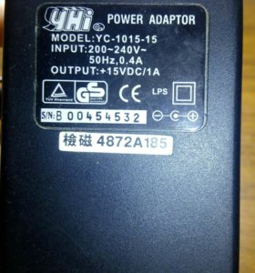 Power adaptor YC-1015-15