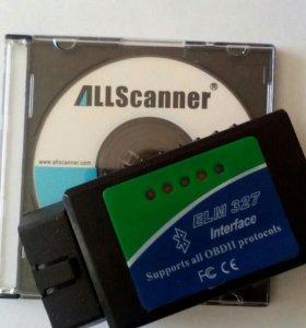 Диагностический Сканер OBD II ELM327BT