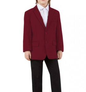 Пиджак для мальчика бордовый 146 и 152 Елена и Ко