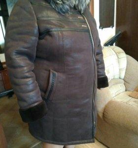 Дубленка 62 размер женская