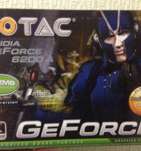 AGP видеокарта новая Zotac 6200 512mb