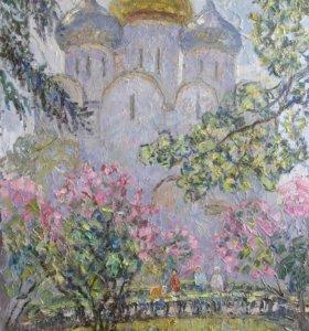 Картина Новодевичий монастырь