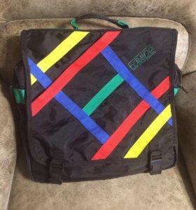 Большая текстильная сумка студента