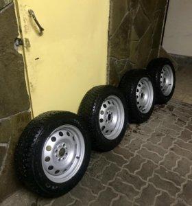 Зимние колёса R14 на Ваз,Accent
