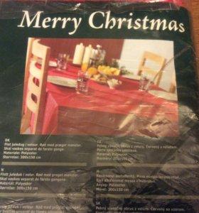 Скатерть для праздничного стол ( 3м Х1м50  )новая!