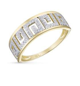 Золотое кольцо 16,5 с бриллиантами