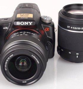 Фотоаппарат Sony a35 + 55-200