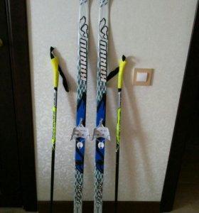 Лыжи детские.Длина 130 см.